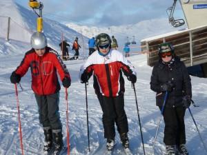 Sarah mit ihrer Skigruppe