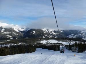 Blick auf die Alpenlandschaft